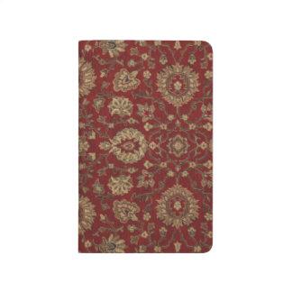Tapicería persa roja del arabesque del escarlata