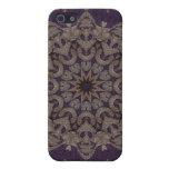 Tapicería púrpura 5 de Kreations del caleidoscopio iPhone 5 Coberturas