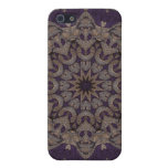 Tapicería púrpura 5 de Kreations del caleidoscopio iPhone 5 Carcasas