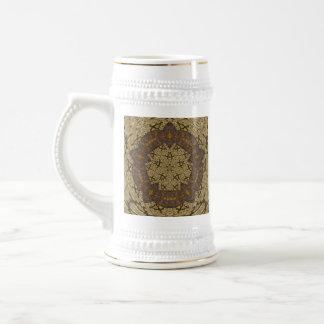 Tapicería rústica abstracta jarra de cerveza