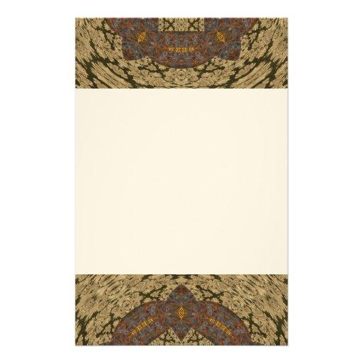 Tapicería rústica abstracta papelería de diseño