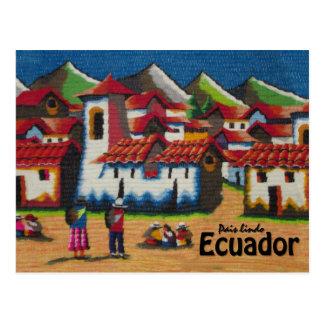 Tapicería típica de Ecuador Otavalo Postal