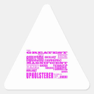 Tapiceros de los chicas: Tapicero más grande Colcomanias De Triangulo Personalizadas
