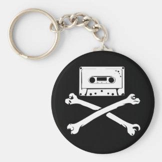 Taping casero de la piratería de la cinta y del pi llavero personalizado