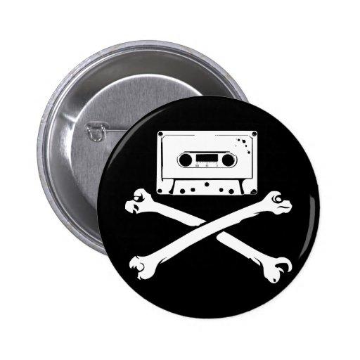 Taping casero de la piratería de la cinta y del pi pin redondo de 2 pulgadas