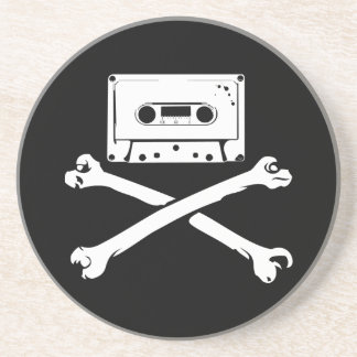 Taping casero de la piratería de la cinta y del pi posavasos diseño