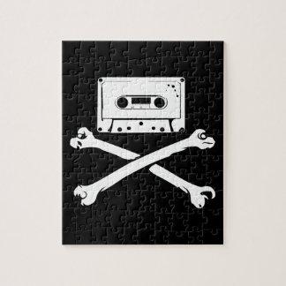 Taping casero de la piratería de la cinta y del pi puzzles con fotos