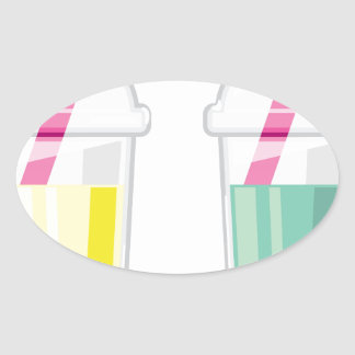 Tapioca Drink Oval Sticker