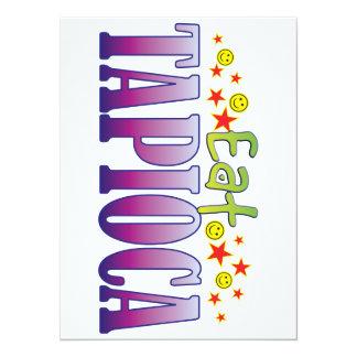 Tapioca Eat 5.5x7.5 Paper Invitation Card