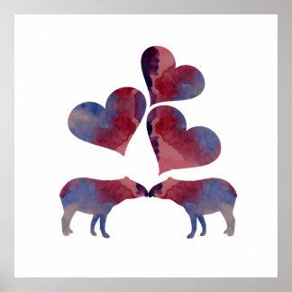 Tapir art poster