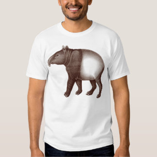 Tapir asiático o malasio de la camiseta animal - poleras