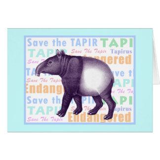 Tapir asiático/Tapir del Malay - tarjeta de felici