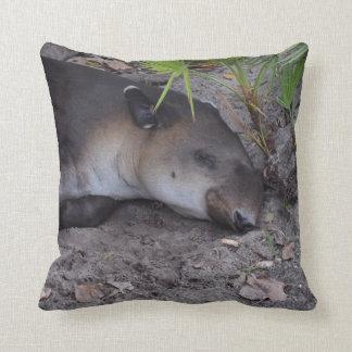 tapir el dormir bajo cierre del palmetto para cojín