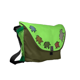 tapir family courier bag