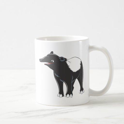 Tapir feliz taza