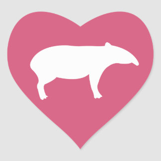 Tapir Heart Stickers