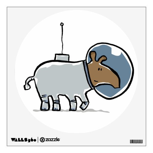 tapir in space room decal