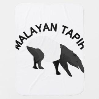 Tapir malayo mantas de bebé