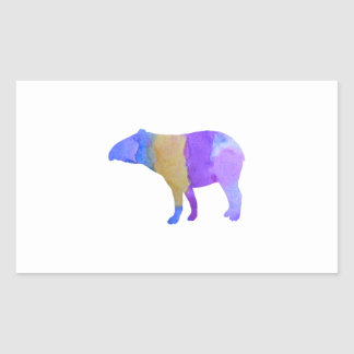 Tapir Rectangular Sticker