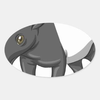 Tapir Oval Sticker