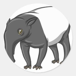 Tapir Round Sticker