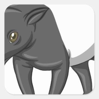 Tapir Square Sticker