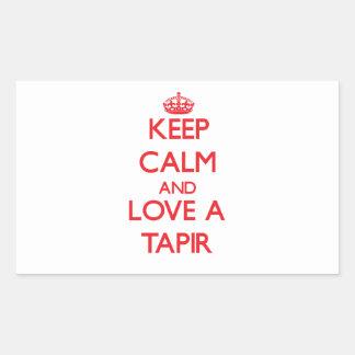 Tapir Rectangular Sticker