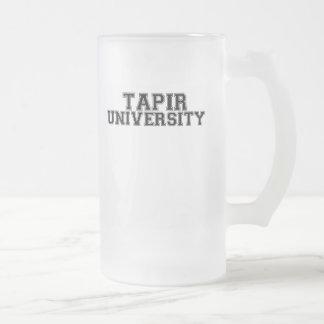 Tapir University 16 Oz Frosted Glass Beer Mug