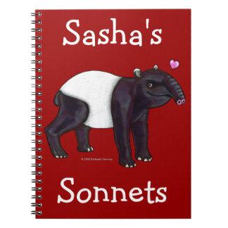 Tapir Wants Hugges Notebook