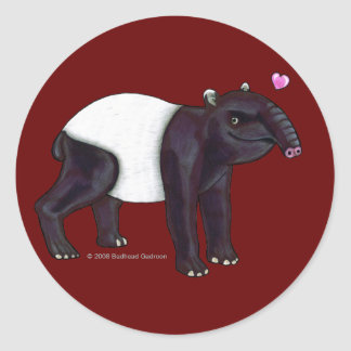 Tapir Wants Hugges Round Sticker