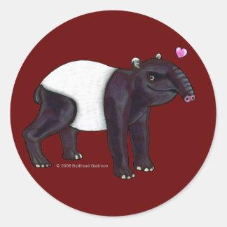 Tapir Wants Hugges Round Sticker