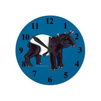 Tapir Wants Hugges Wall Clock