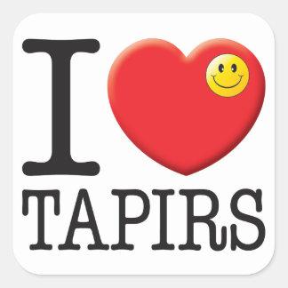 Tapirs Love Stickers