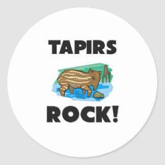 Tapirs Rock Round Sticker