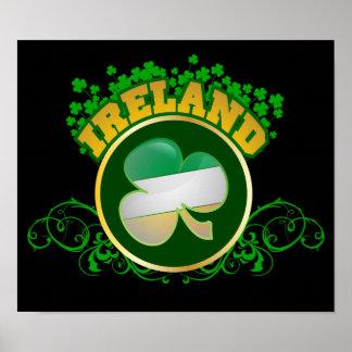 Tapiz $25,00 del trébol de Irlanda Póster