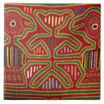 Tapiz colorido de los indios 2 de Cuna Azulejo Cuadrado Grande