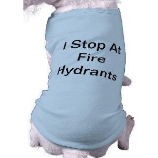 Tapón de la boca de incendios playera sin mangas para perro
