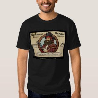 Tapones rugosos de la marca de Blackbeard Playera