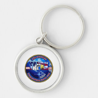 TAPRN-LOGO-150-gif Silver-Colored Round Keychain