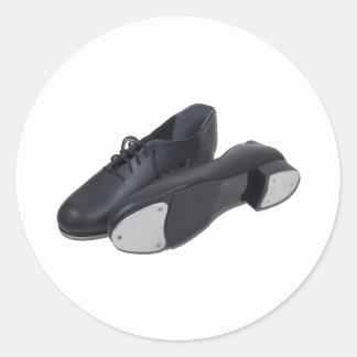 TapShoes012511 Pegatina Redonda