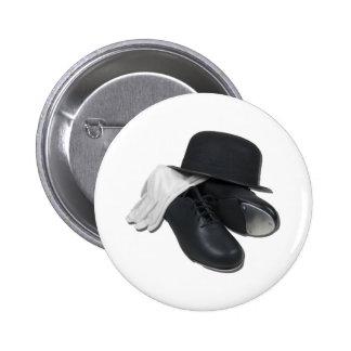 TapShoesBowlerGloves012511 Pinback Button