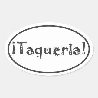 Taqueria Oval Sticker