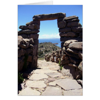 taquile stone arch card
