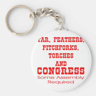 Tar Feathers Pitchforks Torches & Congress Key Chains