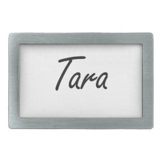 Tara artistic Name Design Belt Buckles