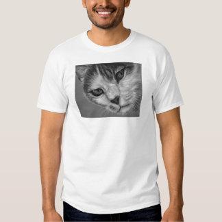 Tara - Black and White Cat Art Shirt