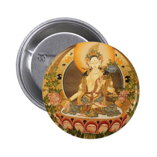 Tara (Buda femenino) Pin Redondo De 2 Pulgadas