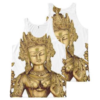 Tara Buddha Buddhist Goddess Yoga Tibet Art Peace All-Over Print Tank Top