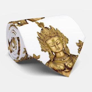 Tara Buddha Buddhist Goddess Yoga Tibet Art Peace Neck Tie