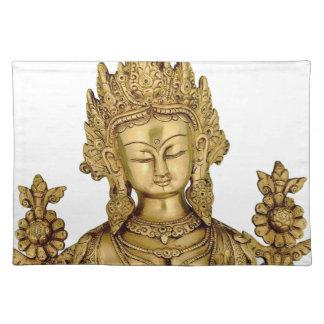 Tara Buddha Buddhist Goddess Yoga Tibet Art Peace Placemat